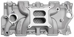 Intake Manifold, Weiand, Street Warrior, SB Chevy, Square Bore, Natural