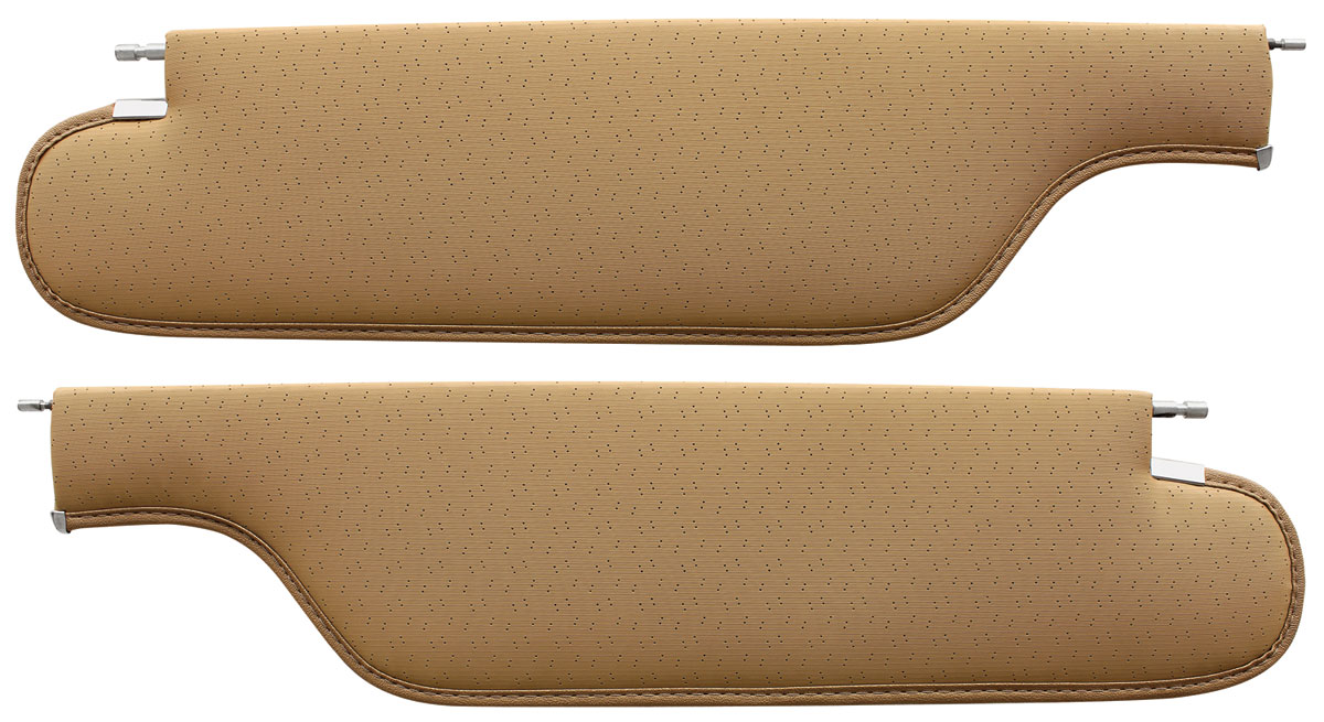 1968 1970 Chevy Buick Olds /& Pontiac Coupe Sunvisor Pair Perforated