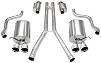 """Exhaust System, Corsa, Sport, Cat-Back, 2.5"""" Dual Rear Exit, Twin 3.5"""" Tips"""