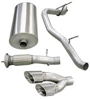 """Exhaust System, Corsa, Touring, Cat-Back, 3"""" Single Side Exit, Twin 4"""" Tip"""