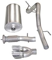 """Exhaust System, Corsa, Touring, Cat-Back, 3"""" Single Rear Exit, Twin 4"""" Tip"""