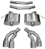 """Exhaust System, Corsa, Extreme, Axle-Back, 2.75"""" Dual Rear Exit, Twin 4"""" Tips"""