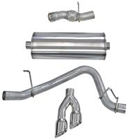 """Exhaust System, Corsa, Sport, Cat-Back, 3"""" Single Side Exit, Twin 4"""" Tip"""