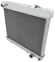 "Radiator, Aluminum American Eagle, 1961-66 Pont FS, 1965-66 Cut, 2 Row, 1"" Tubes"