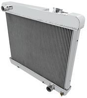 "Radiator, Aluminum Champion, 1961-66 Pont FS, 1965-66 Cut, 3 Row, 5/8"" Tubes"