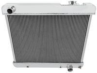 "Radiator, Aluminum Champion, 1961-66 Pont FS, 1965-66 Cut, 4 Row, 5/8"" Tubes"