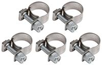 "Hose Clamp, Screw Type, 3/8"" Earl's Vapor Guard, 5pc"
