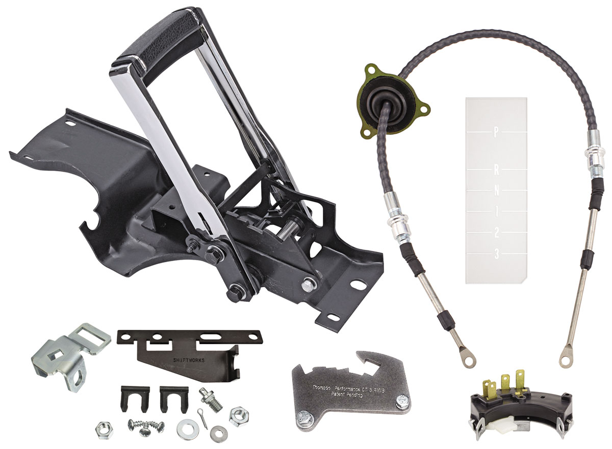 Shifter Conversion Kit, Complete Reverse Pattern, 71-72  CHEVELLE TH350, TH400