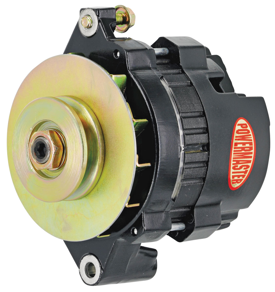 Alternator, Powermaster, 1954-88 GM, CS121, 100A, 1v Pulley
