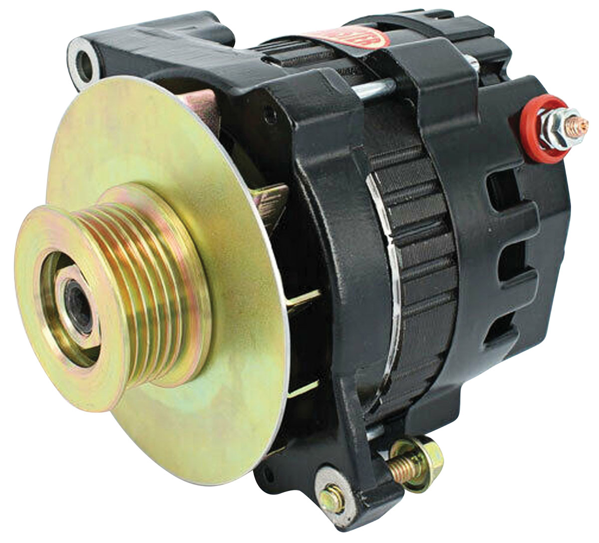 Alternator, Powermaster, 1954-88 GM, CS121, 100A, 6-rib Pulley