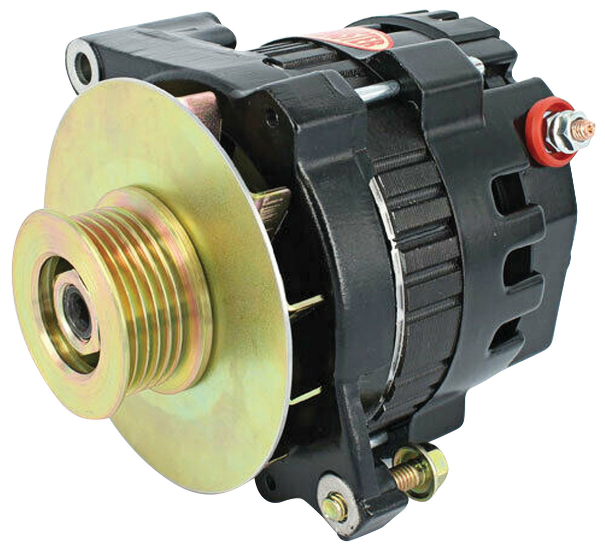 Alternator, Powermaster, 1954-88 GM, CS121, XS Volt, 100A, 6-rib Pulley