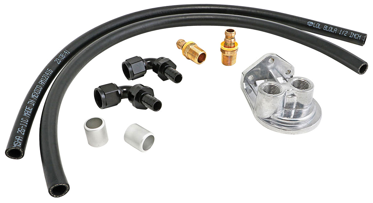 Oil Filter Relocation, Single, LS, -10AN Vertical Ports, Universal, Kit