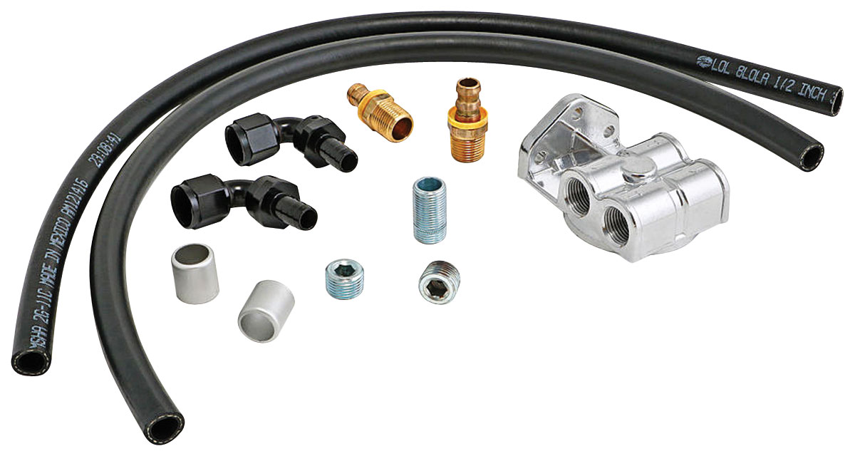 Oil Filter Relocation, Single, LS, -10AN Horizontal Ports, Universal, Kit