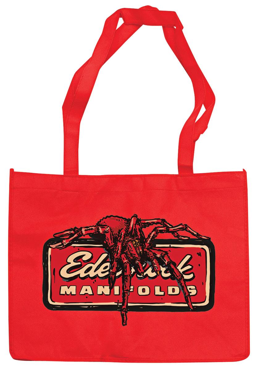 Bag, Edelbrock, Canvas Tote, red w/tarantula