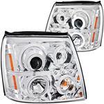 Headlights, Projector, ANZO, 2002-06 Escalade/ESV, w/CCFL Halo, Halogen Bulbs