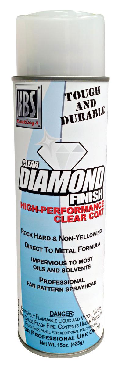 Paint, Clear Coat, KBS Diamond Finish, 16 oz Aerosol