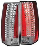 Tail Light Assembly, ANZO, 2007-13 Escalade/ESV, LED, Clear w/Chrome Housing