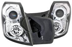 Headlights, Projector, ANZO, 2003-07 CTS/CTS-V, w/LED Halo, Halogen Bulbs