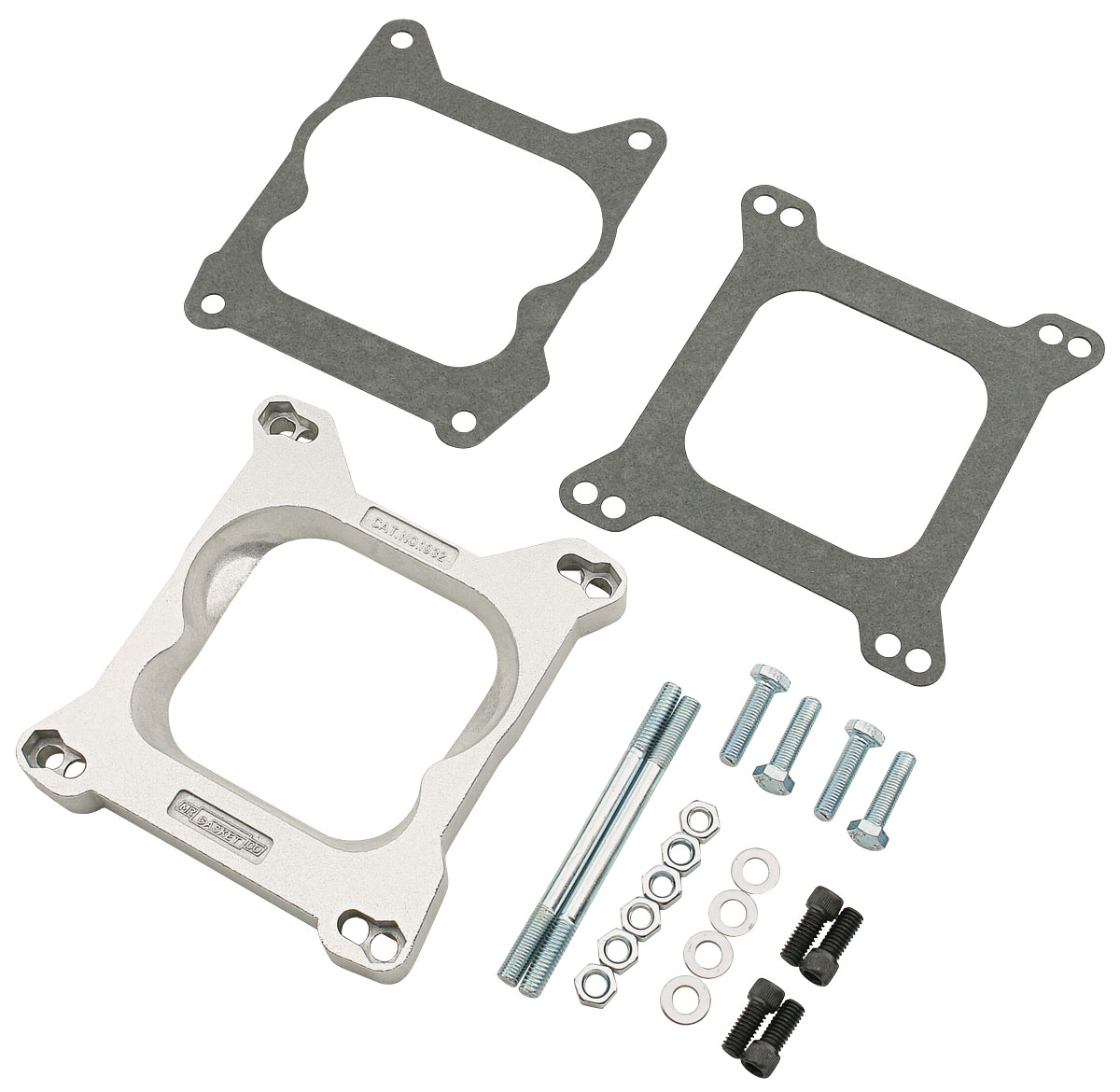 Carburetor Adapter Kit, Open Center, Square Flange to Q-Jet