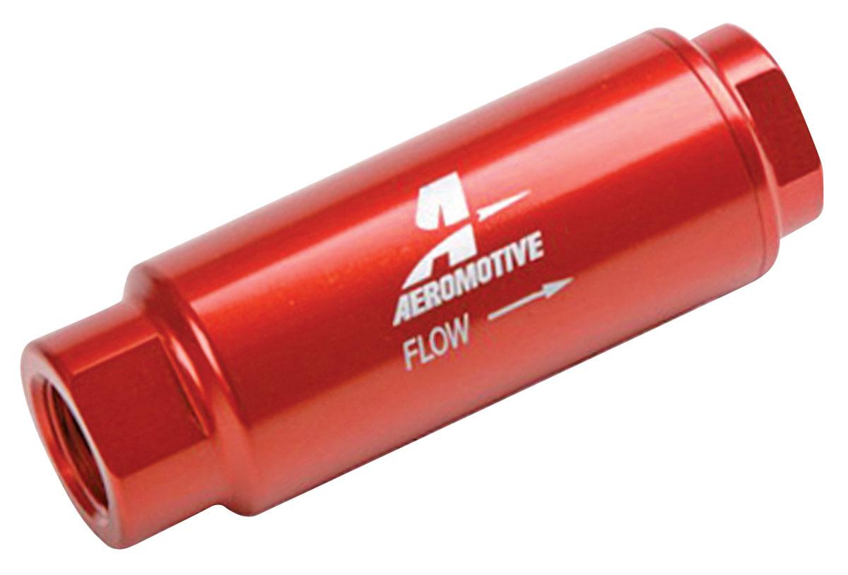 "Fuel Filter, Inline, Aeromotive, 40 Micron, 3/8""npt"