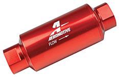 """Fuel Filter, Inline, Aeromotive, 40 Micron, ORB-10, 2"""" OD"""