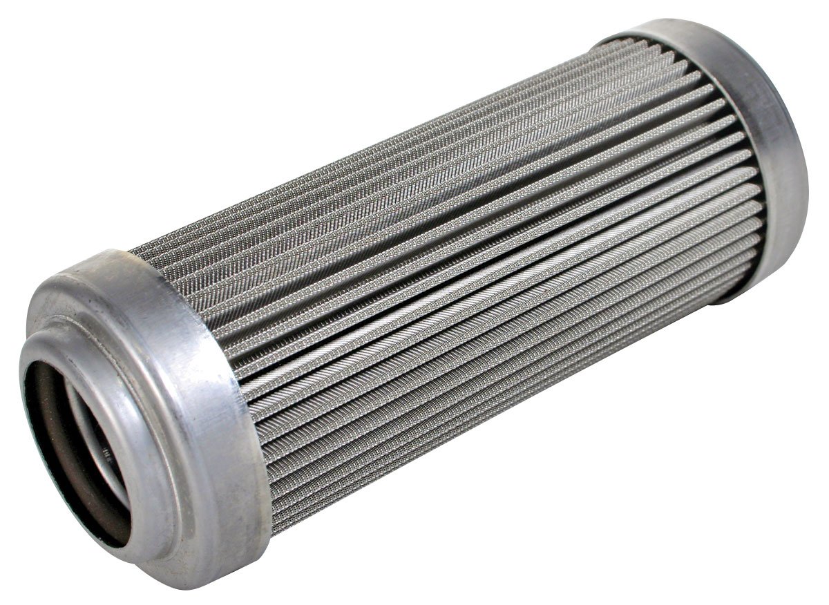 "Fuel Filter Element, Inline, Aeromotive, 100 Micron, ORB-12, 2-1/2"" OD"