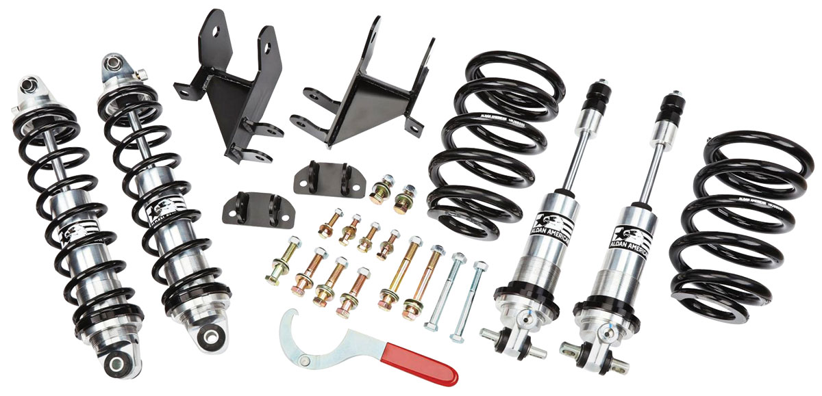 Coil-Over Kit, 1964-67 A-Body, Small Block, Single Adj. Bolt-on, Front/Rear