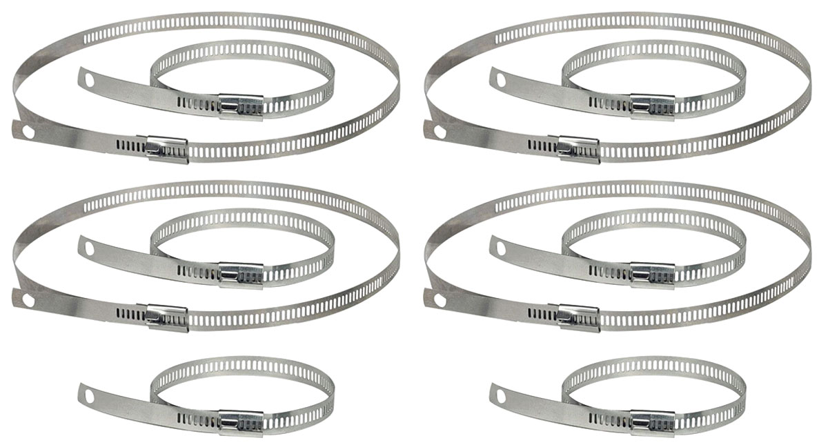 """Snap Strap Kit, Thermo-Tec, 6-9"""" & 4-18"""", V-6, Stainless Steel"""