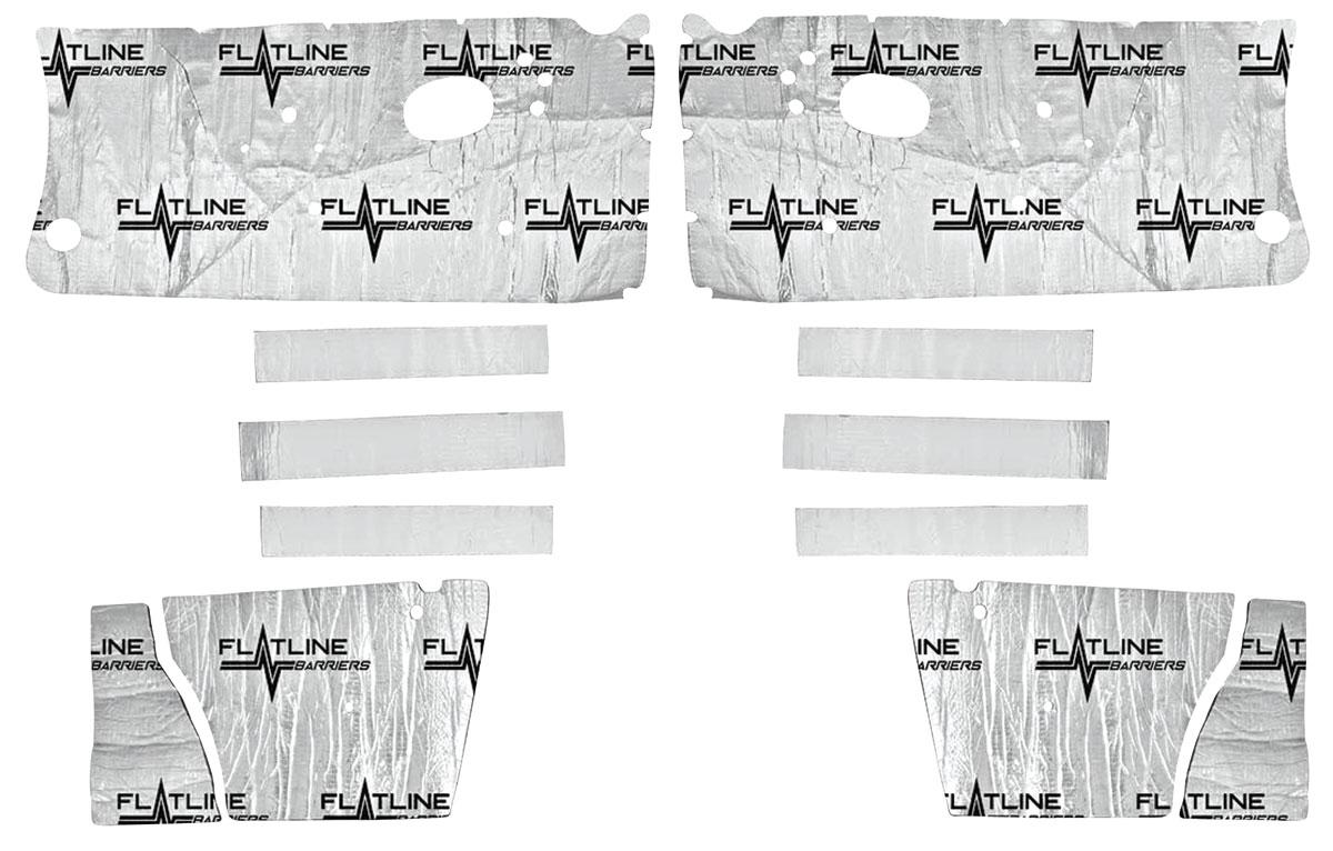 Sound Deadener, Flatline Barriers, Door/Inner Quarter Panel Kit, 1964-67 A-Body