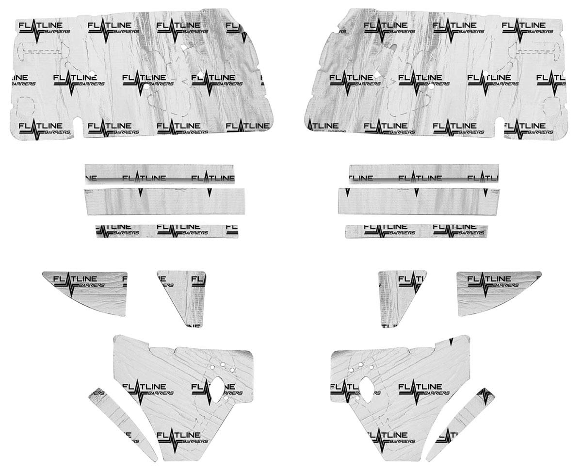 Sound Deadener, Flatline Barriers, Door/Inner Quarter Panel Kit, 1968-72 A-Body