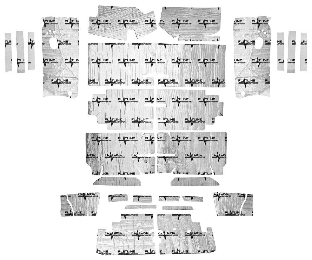 Sound Deadener, Flatline Barriers, Complete Set, 1964-67 A-Body, Convertible