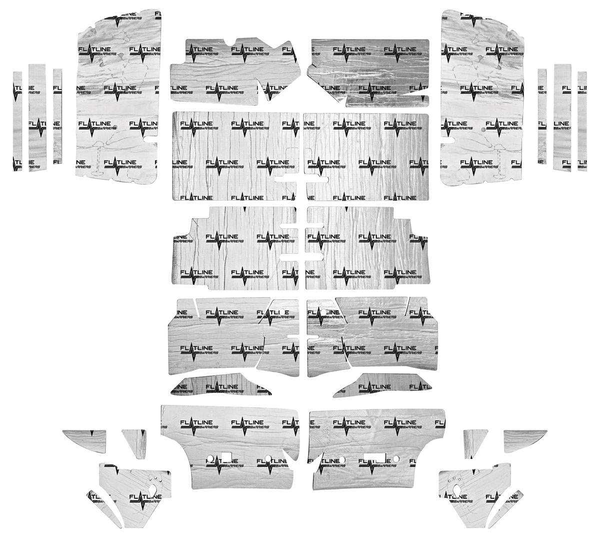 Sound Deadener, Flatline Barriers, Complete Set, 1968-72 A-Body, Convertible