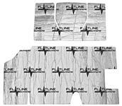Sound Deadener, Flatline Barriers, Trunk Kit, 1968-72 A-Body