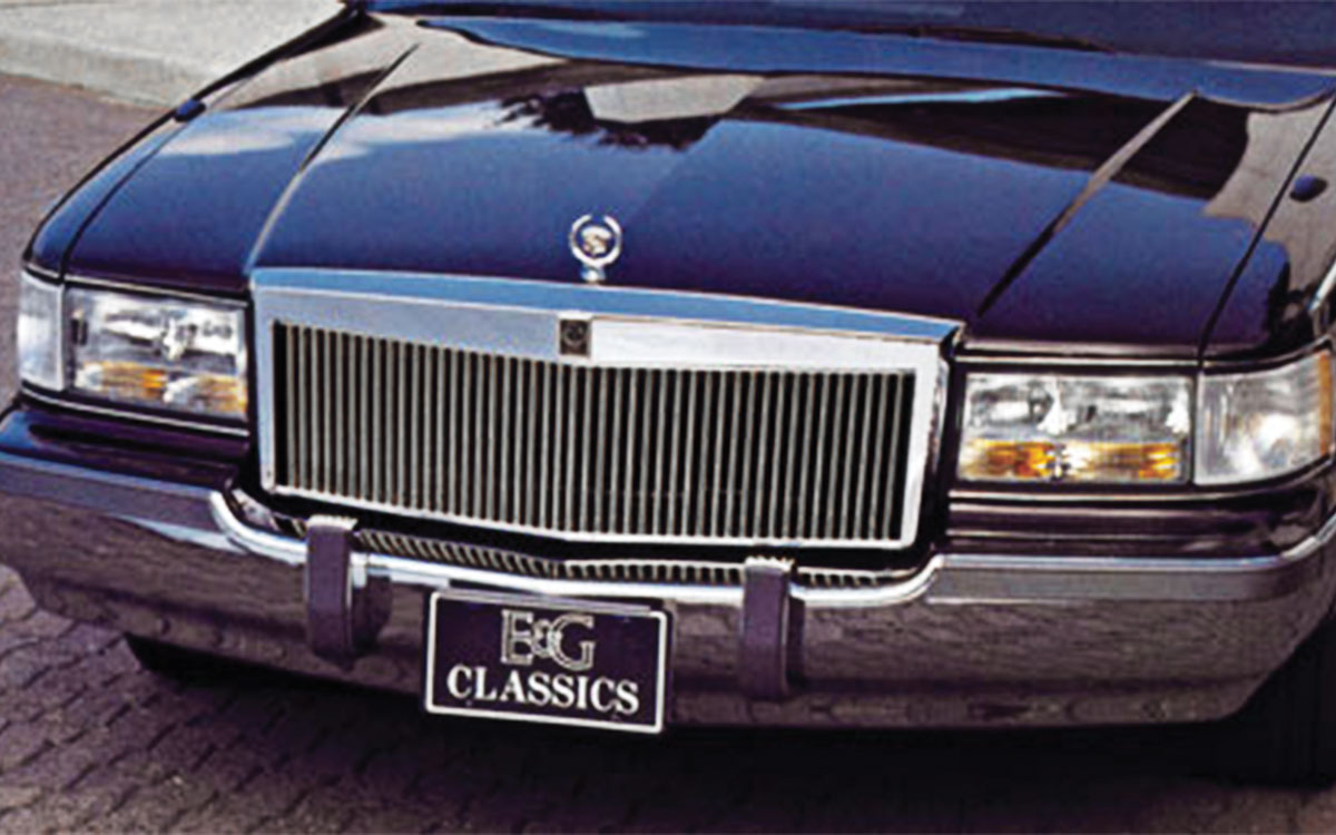 Grille, Classic Vertical, 1993-96 Fleetwood, Low-Profile, Chrome