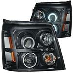 Headlights, Projector, ANZO, 2002-06 Escalade/ESV, w/CCFL Halo, Xenon Bulbs