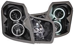 Headlights, Projector, ANZO, 2003-07 CTS/CTS-V, w/CCFL Halo, Halogen Bulbs