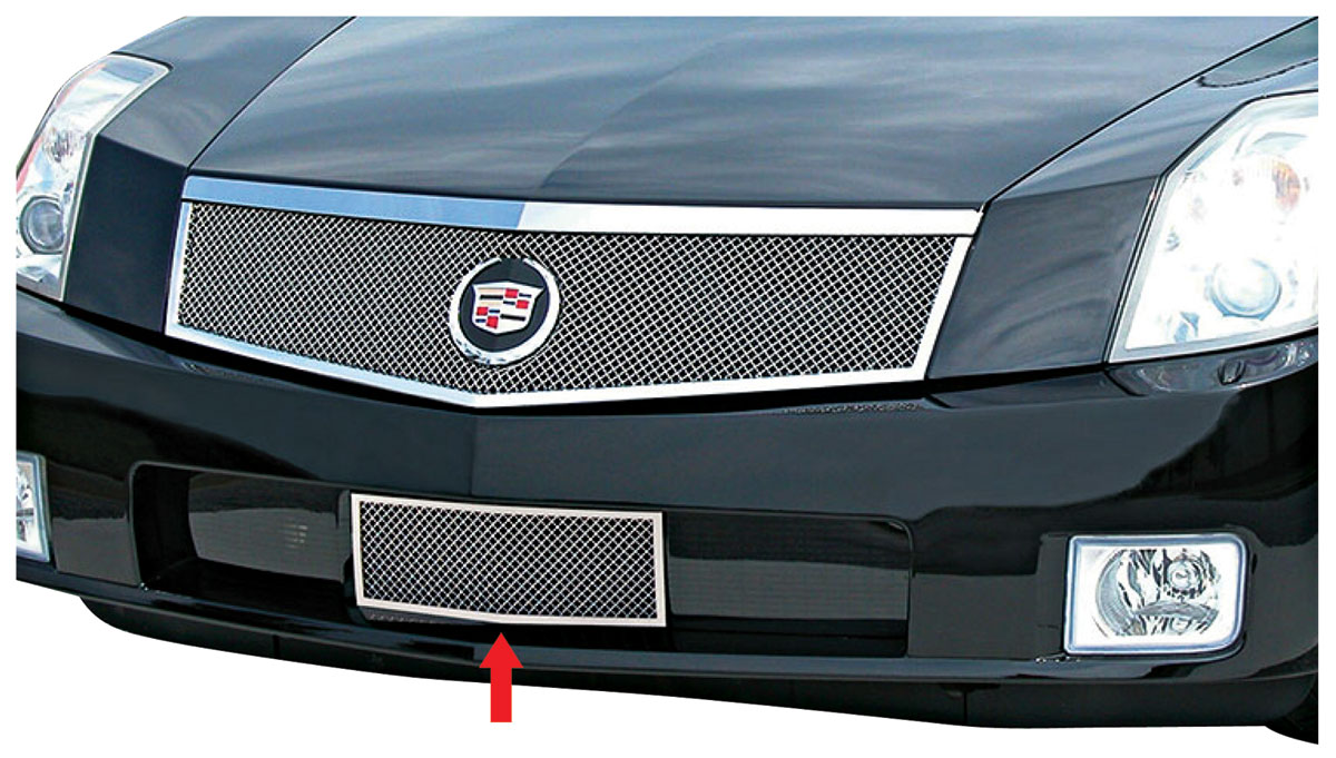 Grille, Lower Overlay, Classic Fine-Mesh, 2004-08 XLR, Chrome