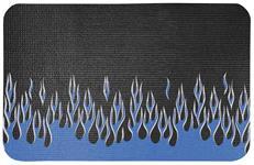 Fender Gripper, Black w/ Blue/Silver Flames
