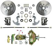 """Disc Brake Kit, Right Stuff, 1964-74 A, Front For Factory 14"""" Wheels"""