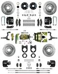 """Disc Brake Kit, Right Stuff, 1964-74 A, Big Front/Rear, 9"""" Booster"""