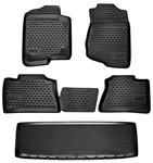 Floor Liner, Profile, 2015-20 Escalade w/Captain Seats, FT/2nd/3rd Row Set