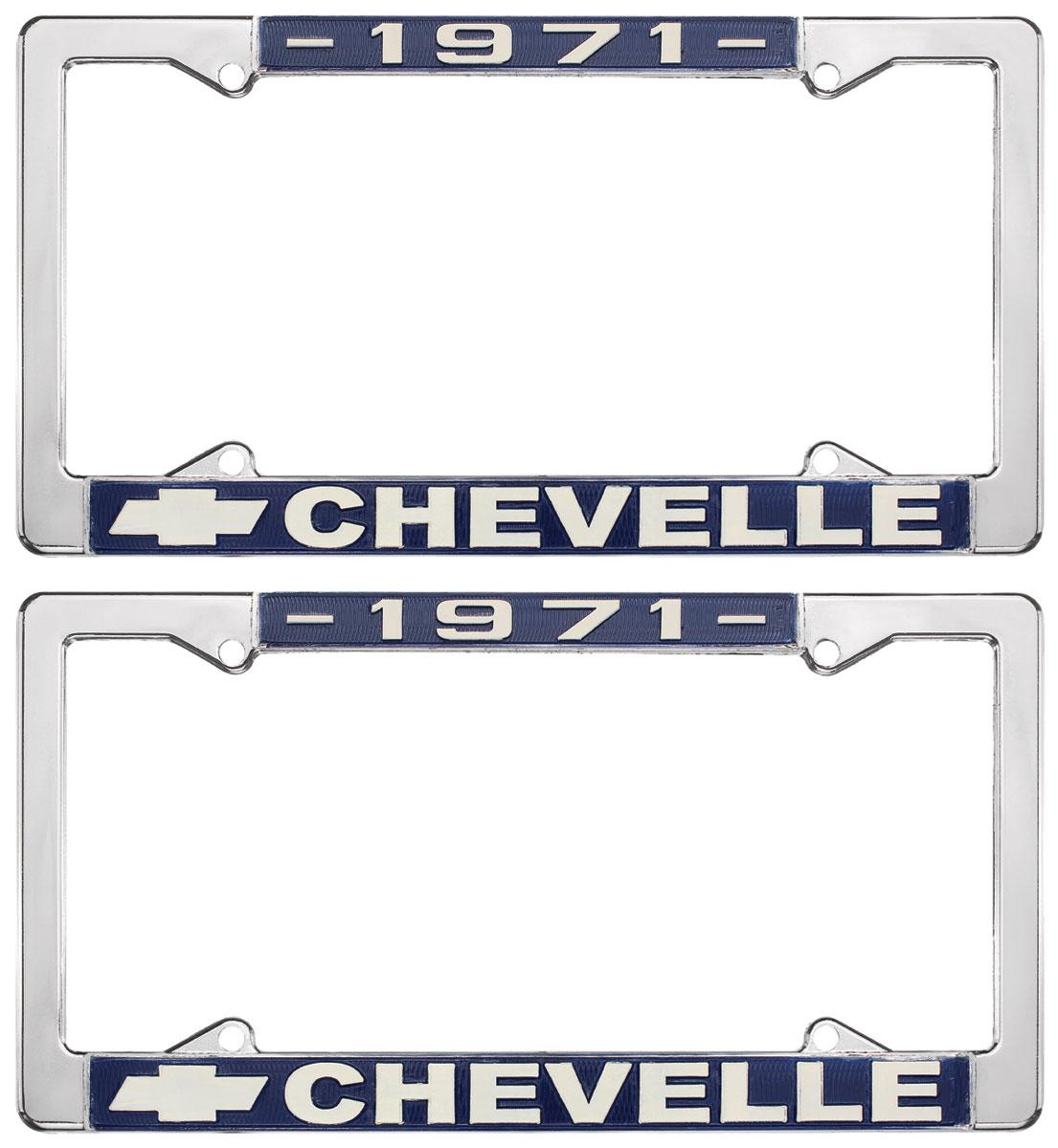 License Plate Frame, 1971 Chevelle