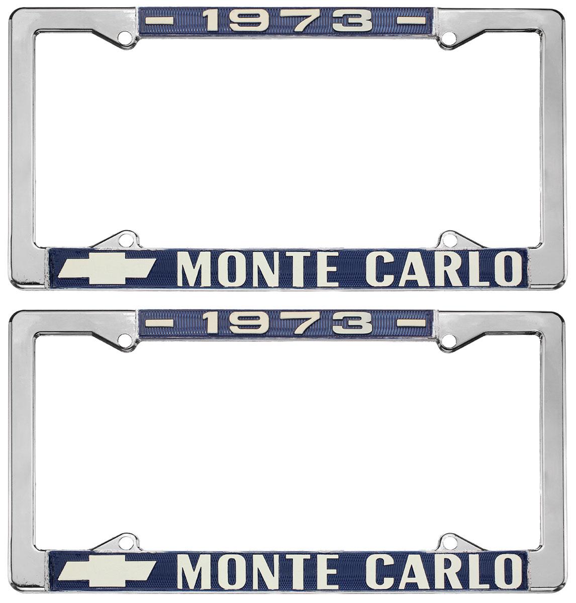 License Plate Frame, 1973 Monte Carlo