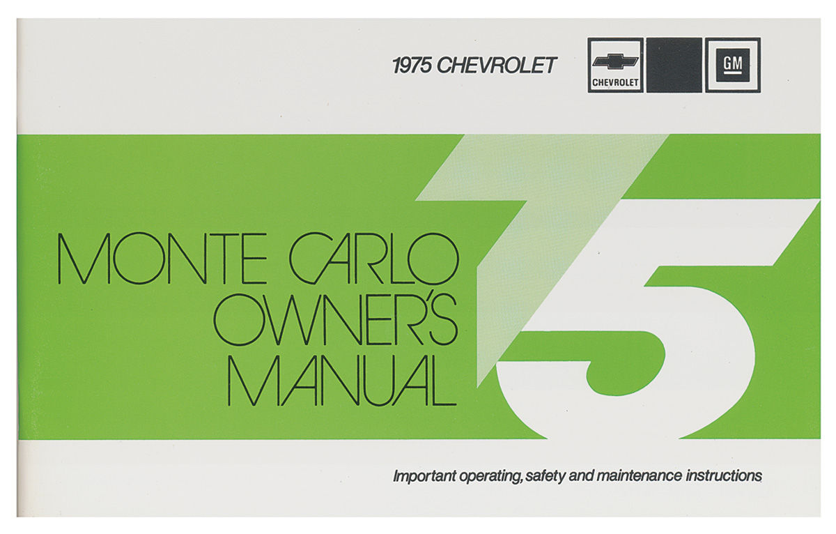 Owners Manual, 1975 Monte Carlo