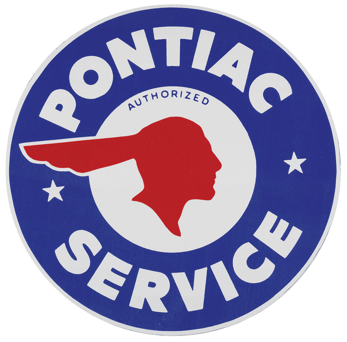 Decal, Pontiac Authorized Service, Indian Head, 10