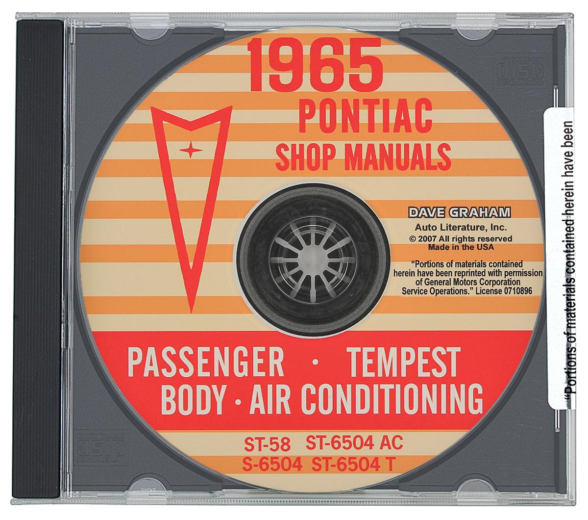 Factory Manuals, CD-ROM, 1965 Pontiac