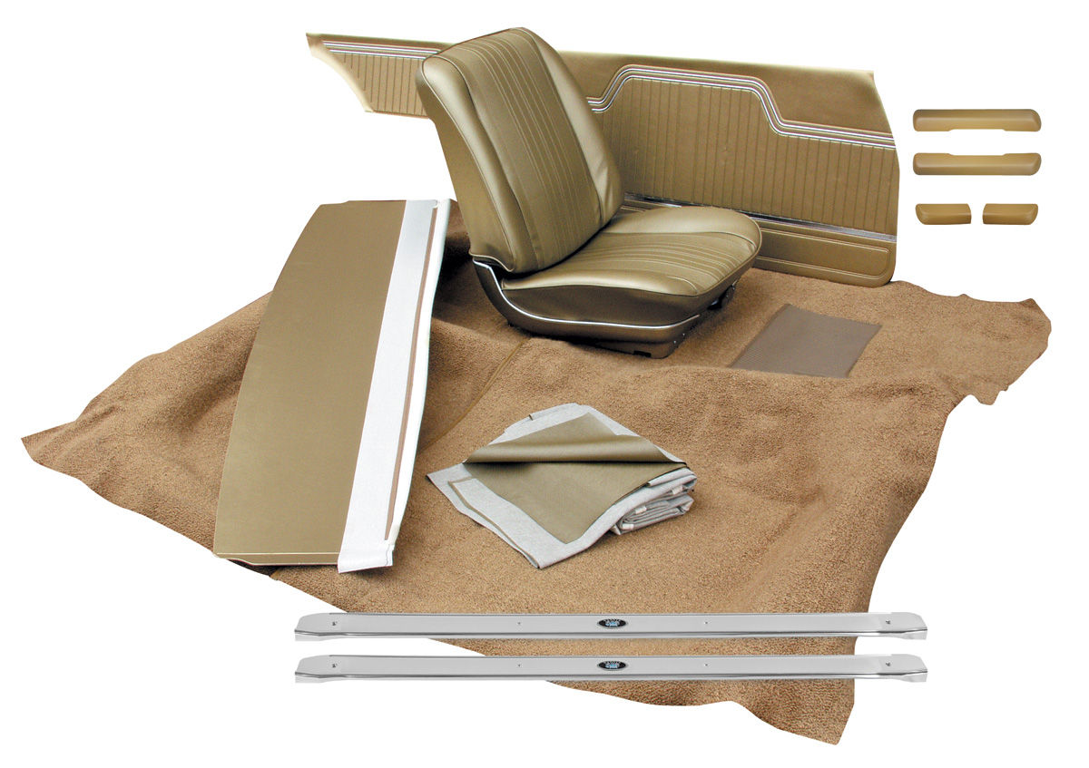 Interior Kit, 1964 Chevelle Stage II, Split Bench, Coupe