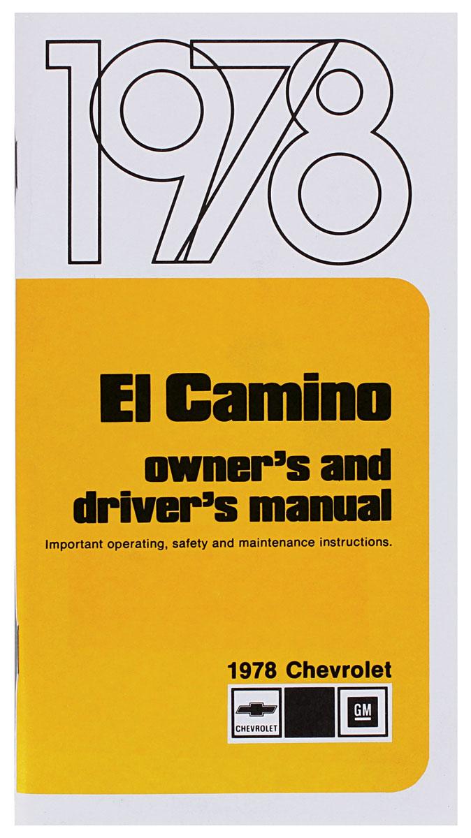 Owners Manual, 1978 El Camino