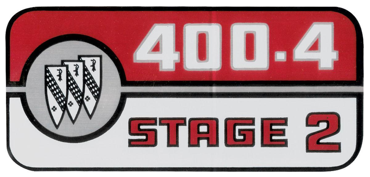 Decal, 69 Skylark, Valve Cover, 400-4 Stage 2