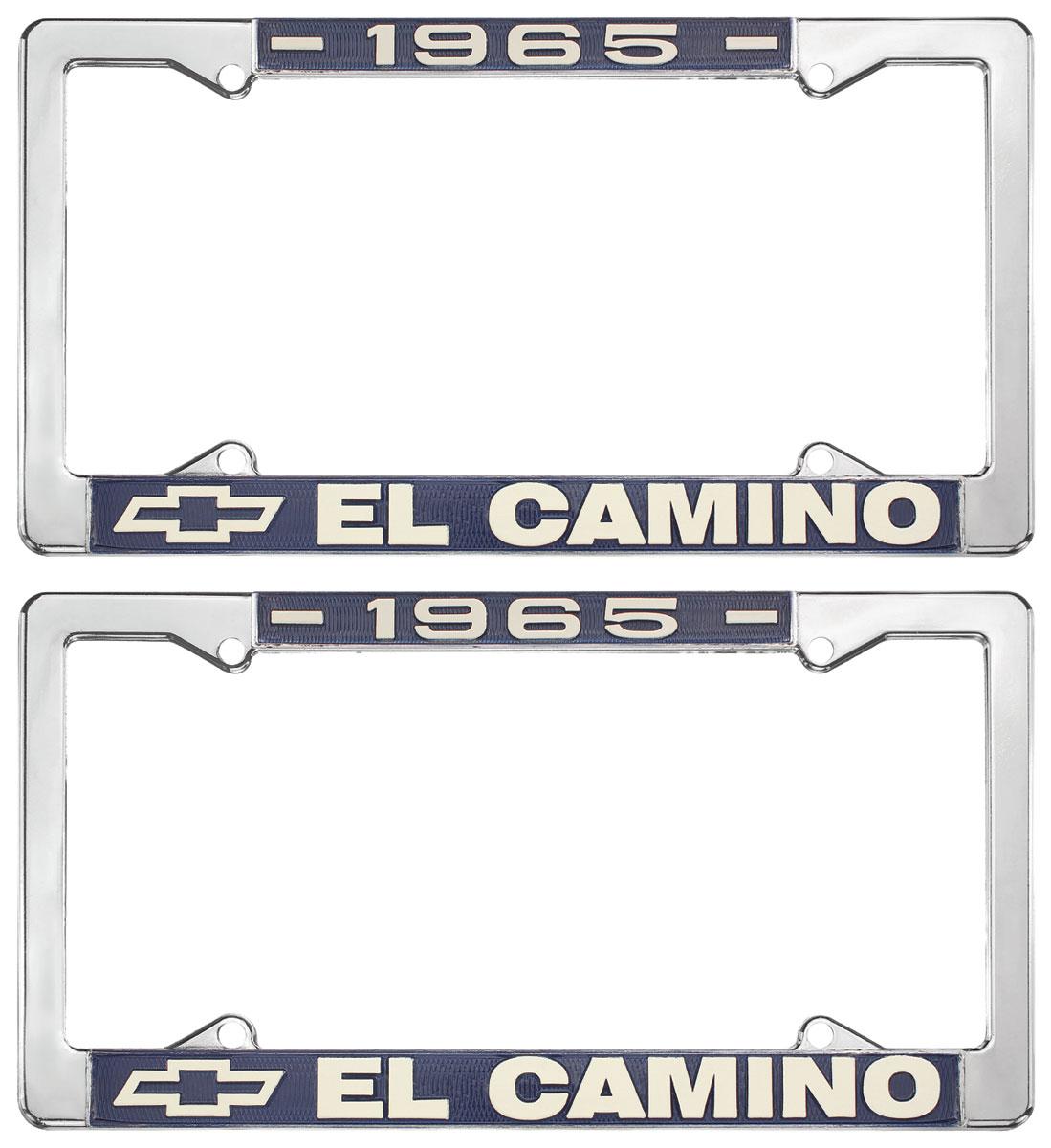 License Plate Frame, 1965 El Camino